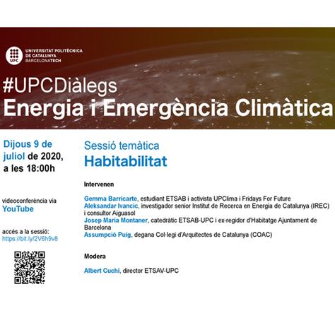 #UPCDiàlegs: Habitabilitat