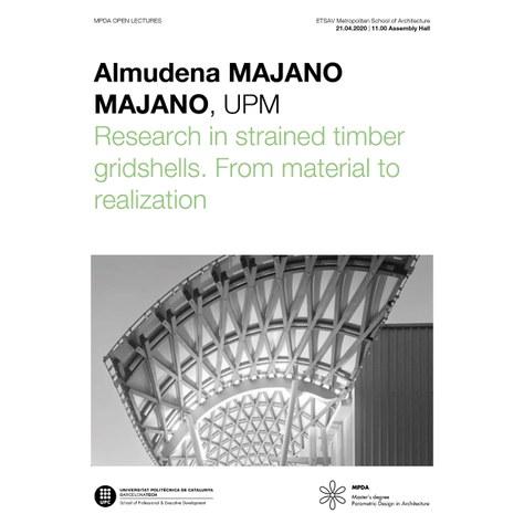 MPDA Open Lecture Online: Almudena Majano