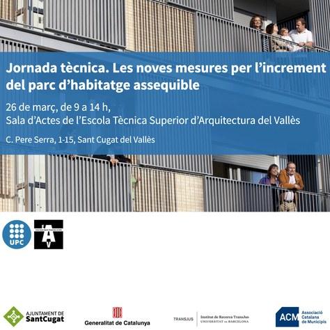 Jornada tècnica: «Les noves mesures per l'increment del parc d'habitatge assequible»