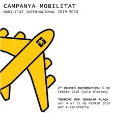Campanya Mobilitat Internacional ETSAV 2019-20