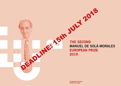 The 2nd Manuel de Solà-Morales European Prize 2019