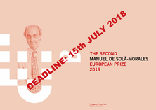 The 2nd Manuel de Solà-Morales European Prize 2019