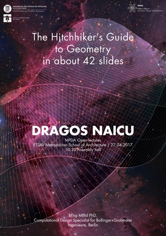 Conferència 'The hitchhiker's Guide to Geometry'
