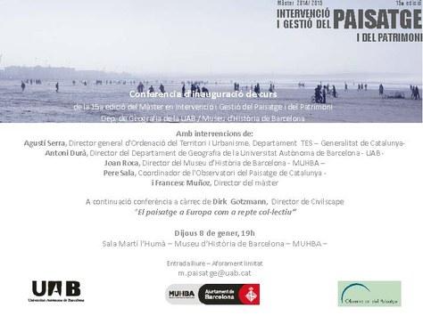 """Conferència: """"El paisatge a Europa com a repte col·lectiu"""""""