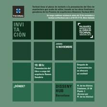 "Presentació llibre ""Premios Architecture Aluminier Technal 2013"""