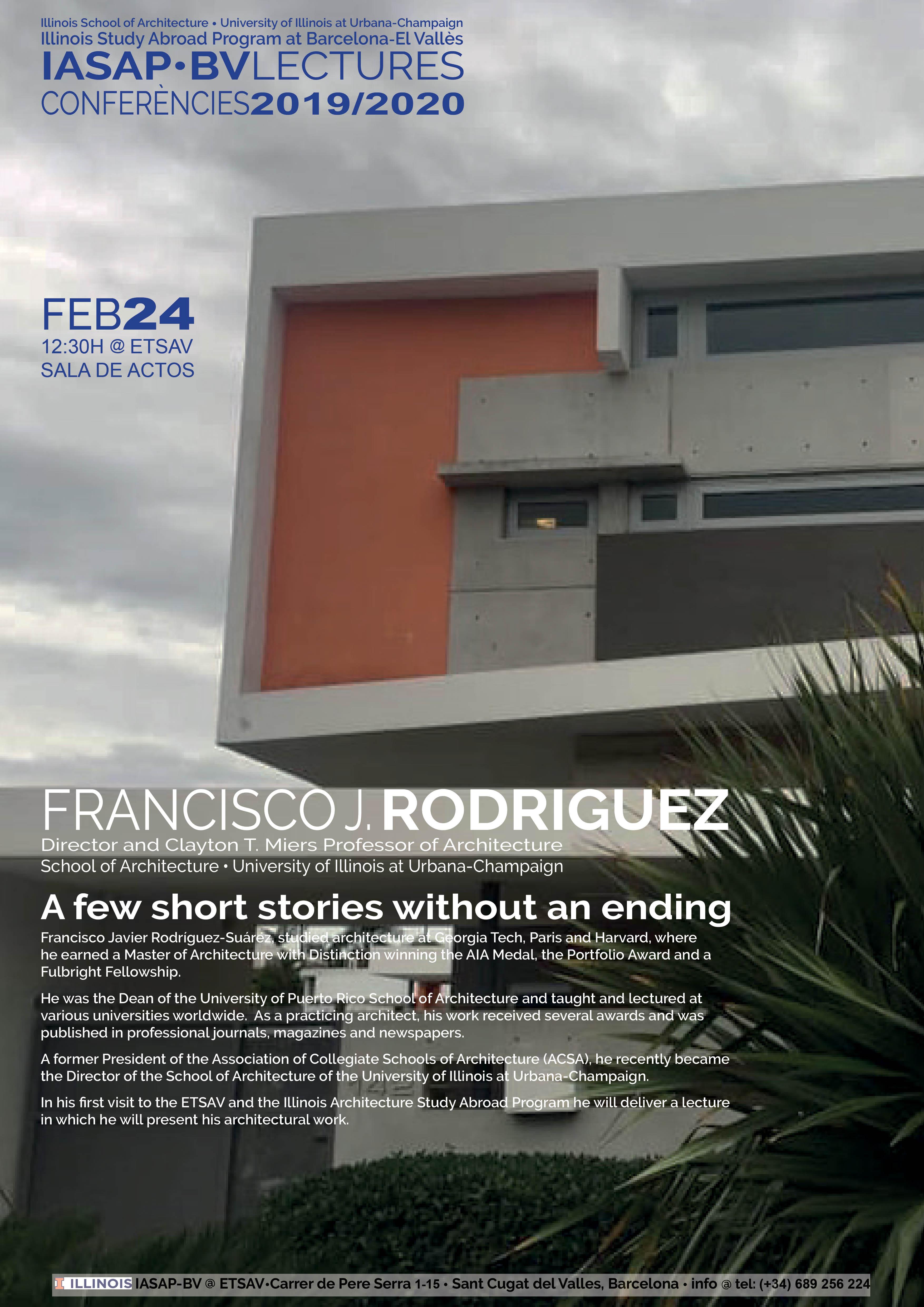Conferencia Francisco Javier Rodriguez Suárez - Director d'Illinois